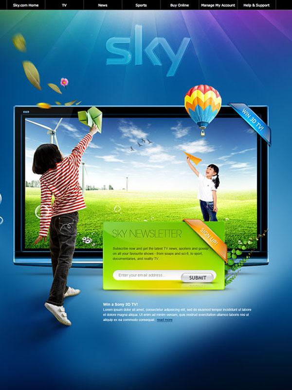 Sky - Web Layout by detrans