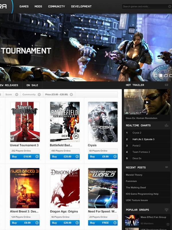 Desura - Game Store Page by joshcollie