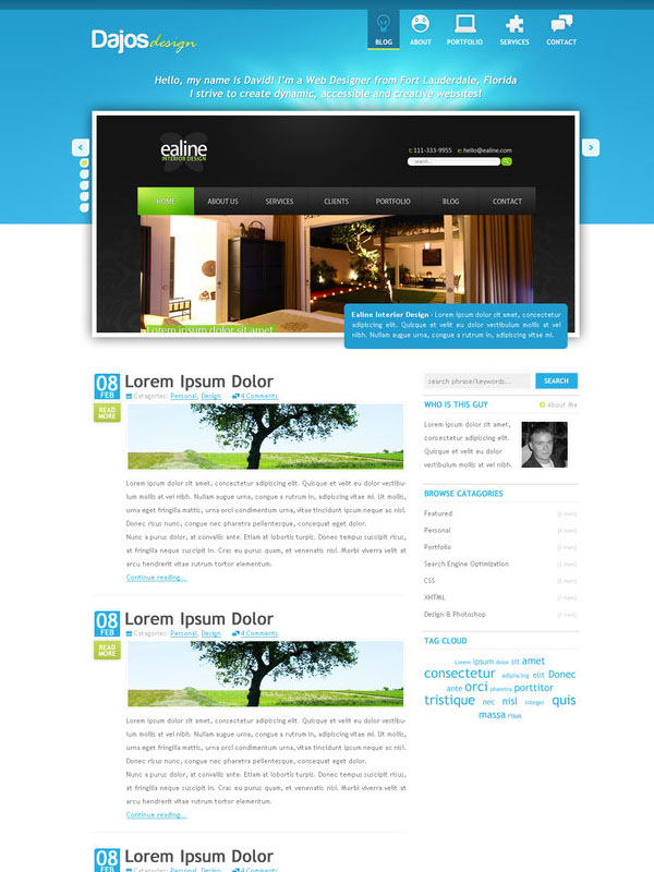 Portfolio and Blog Design v2 by dajos
