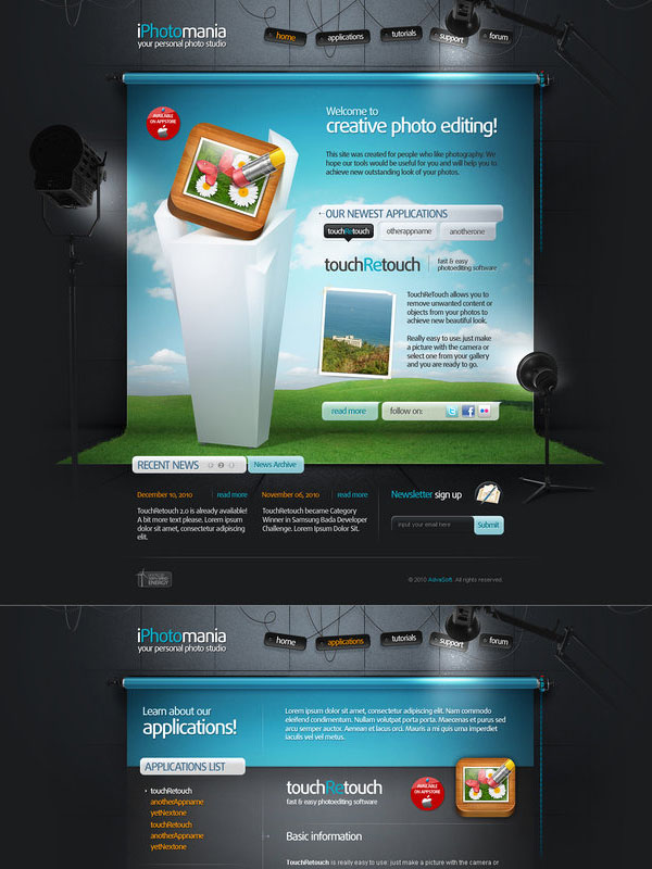 iphotomania website by pho3nix-bf