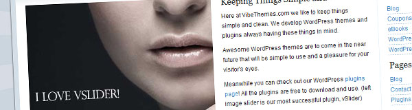 vSlider – WordPress Image Slider Plugin