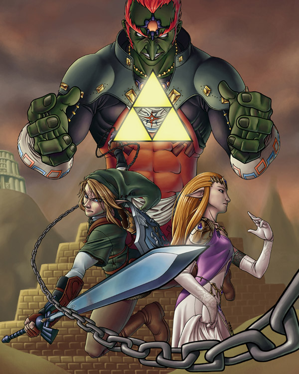 The Legend of Zelda - Color by living-oxymoron