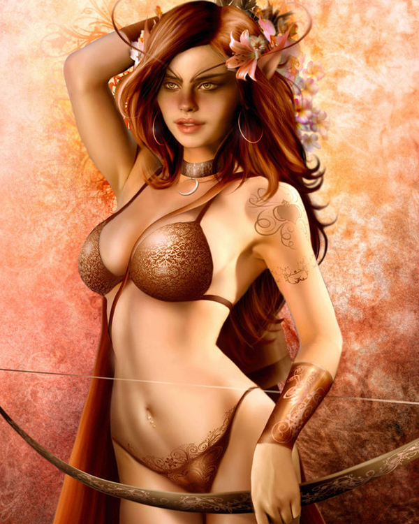 The amazon archer. pin-up by cucujo
