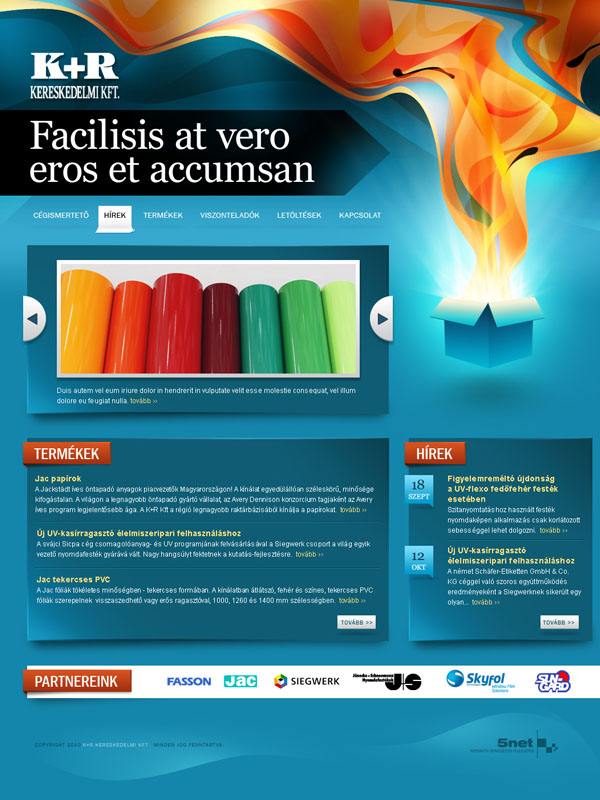 Printing industry firm website by floydworx