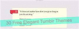 30 Free Elegant Tumblr Themes