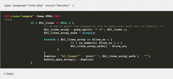 WordPress-Pygments-Syntax-Highlighting