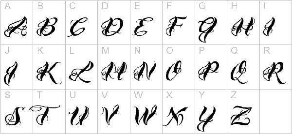 VTC-Bad Tattoo Hand One Font