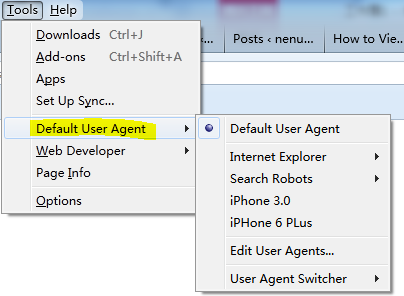 useragent switcher