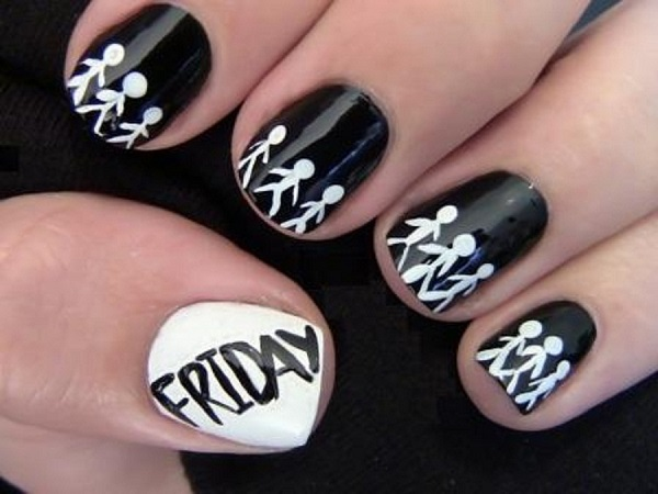 Black and White Nail Art 29