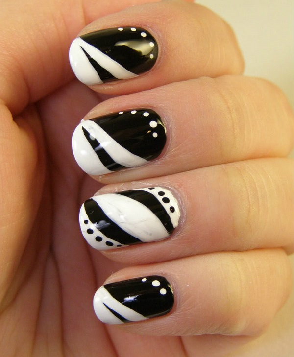 Black and White Nail Art 3