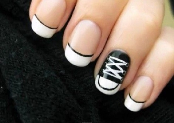 Black and White Nail Art 30