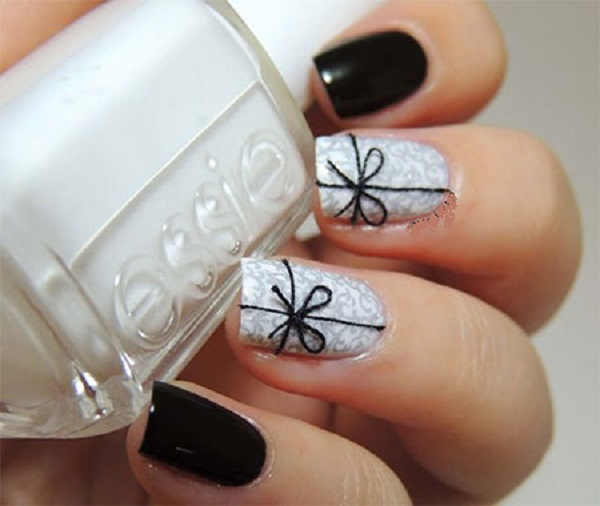 Black and White Nail Art 4