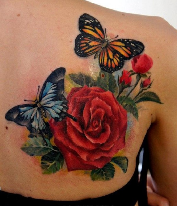 b307375c0 50 Butterfly tattoos with flowers for women - nenuno creative