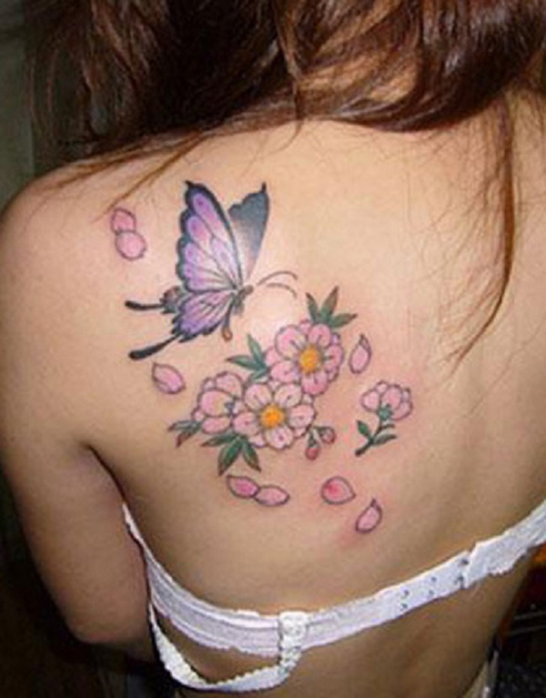 0d0c94238 butterfly tattoo with flowers 41 - 50 Butterfly tattoos with flowers for  women <3