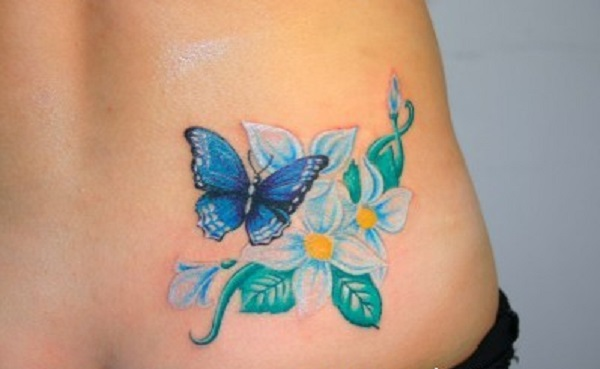 f195058e6 butterfly tattoo with flowers 42 - 50 Butterfly tattoos with flowers for  women <3