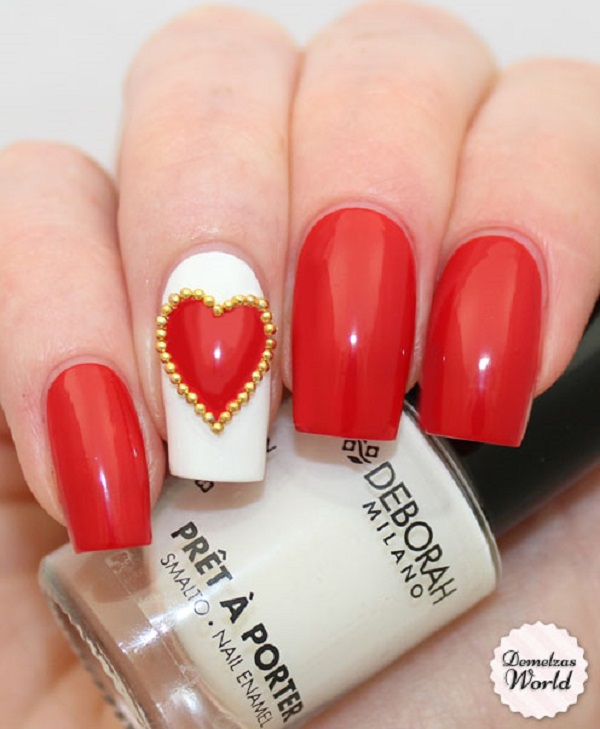Red Nail Art Designs 13