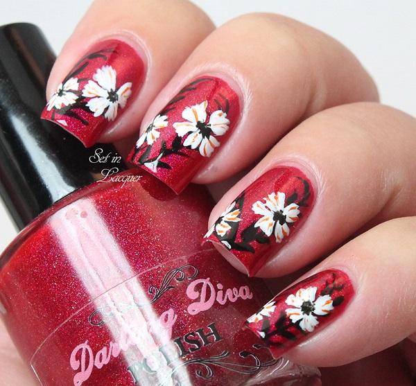 Red Nail Art Designs 24