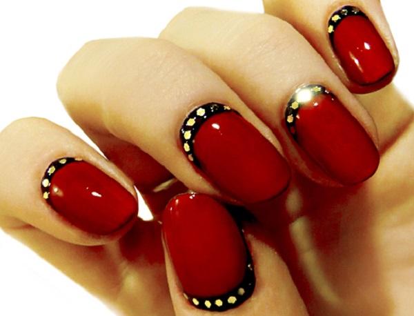 Red Nail Art Designs 27