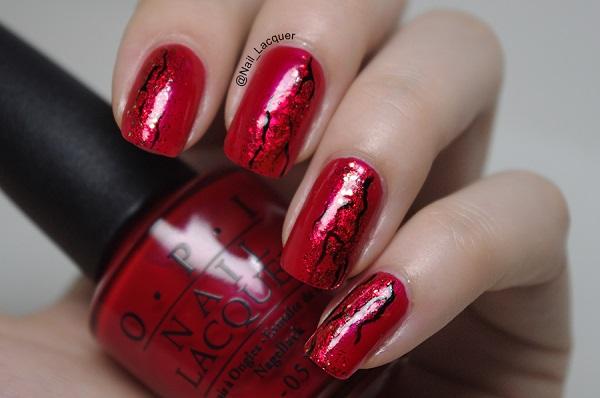 Red Nail Art Designs 28