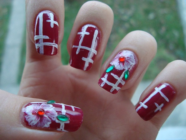 Red Nail Art Designs 3