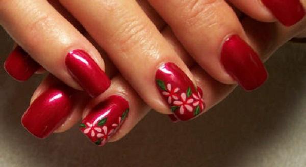 Red Nail Art Designs 32