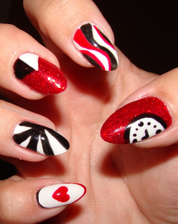 Red Nail Art Designs 33