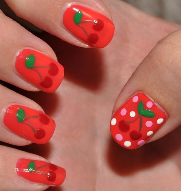 Red Nail Art Designs 5