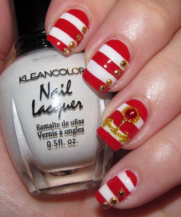 Red Nail Art Designs 6
