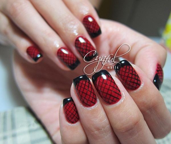 Red Nail Art Designs 7