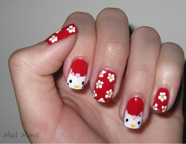 in Nail Art using the Tags : nail , Nail Art Designs , Red Nail Art