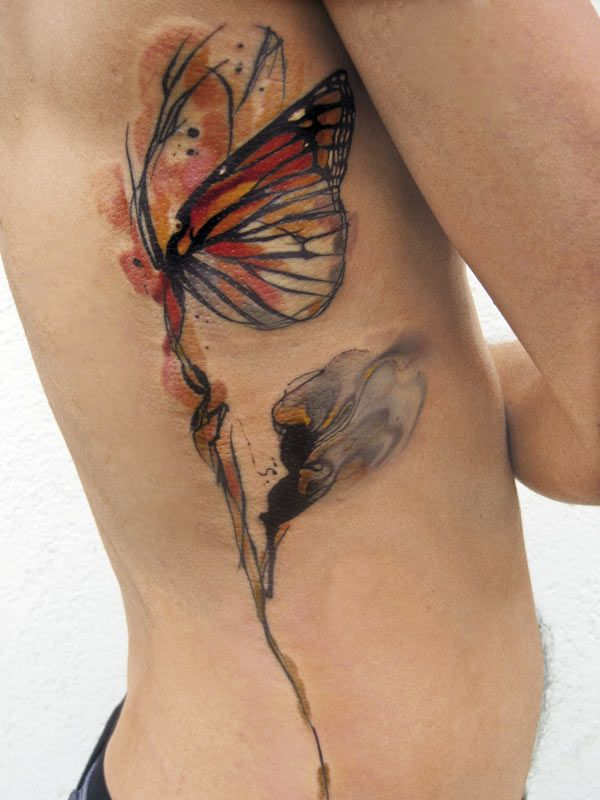 50 butterfly tattoos with flowers for women nenuno creative