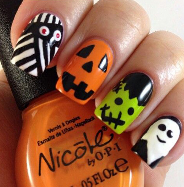 65 Halloween Nail Art Ideas Nenuno Creative