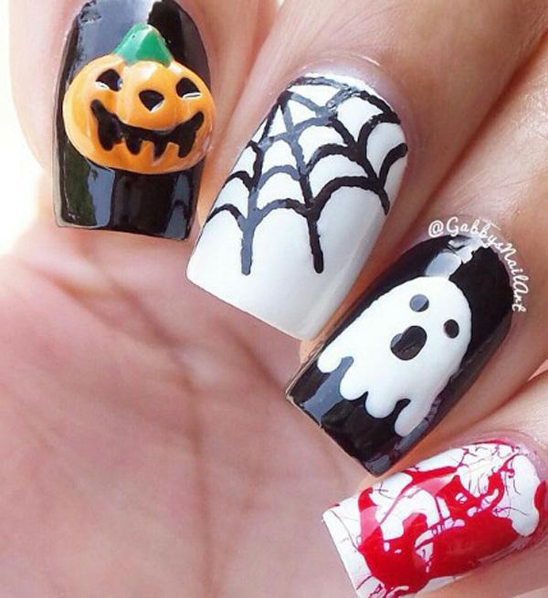 Halloween nail art-21