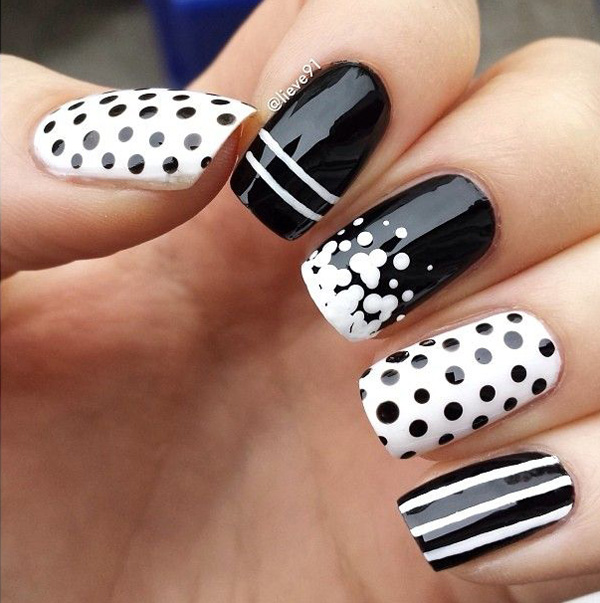 black and white nail art-45