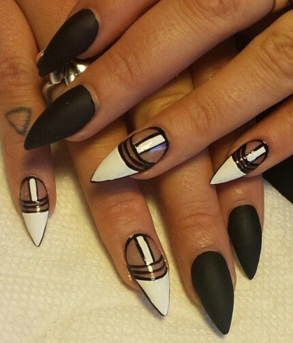 black and white nail art-46