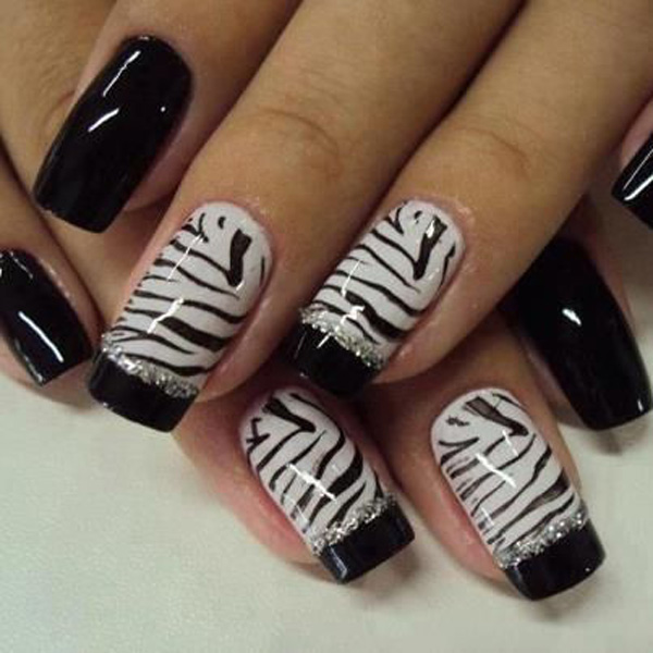 black and white nail art-47