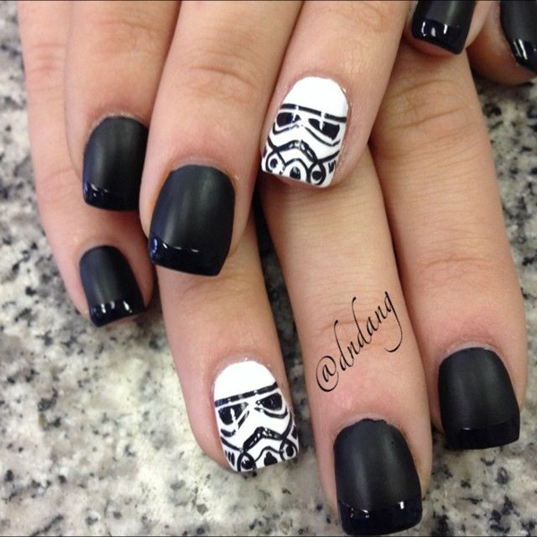 black and white nail art-48
