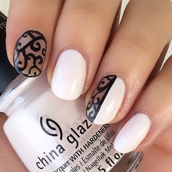 black and white nail art-54