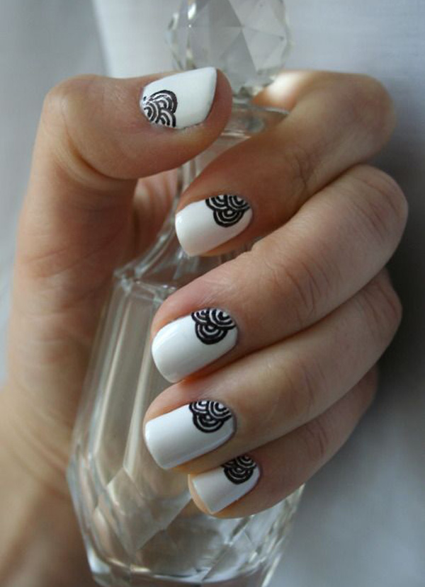 black and white nail art-55
