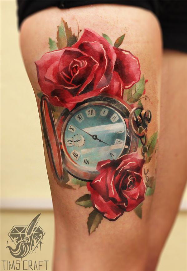 clock n- roses