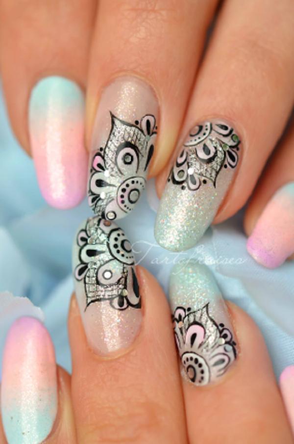 lace nail art 2