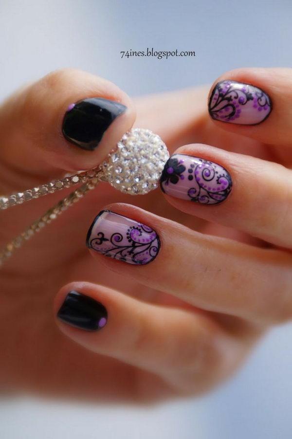 50+ Intricate Lace Nail Art Designs - nenuno creative