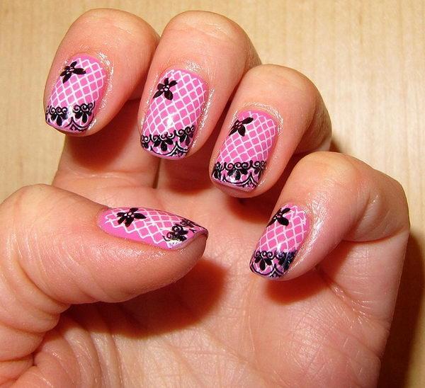 lace nail art 44