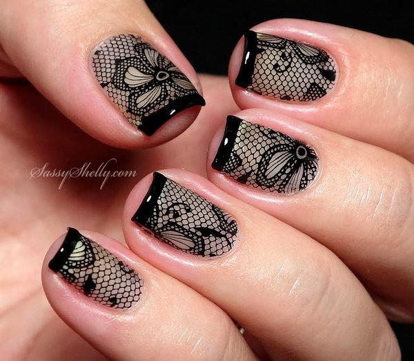 lace nail art 5