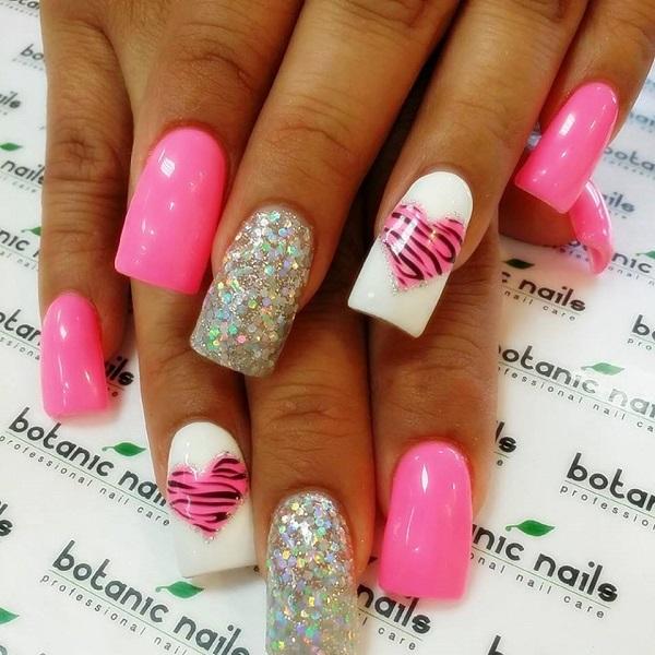 pink  nail art 16