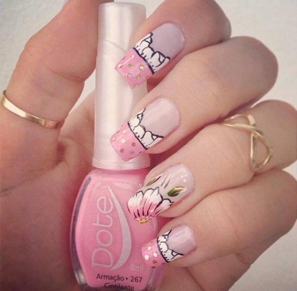 pink  nail art 18