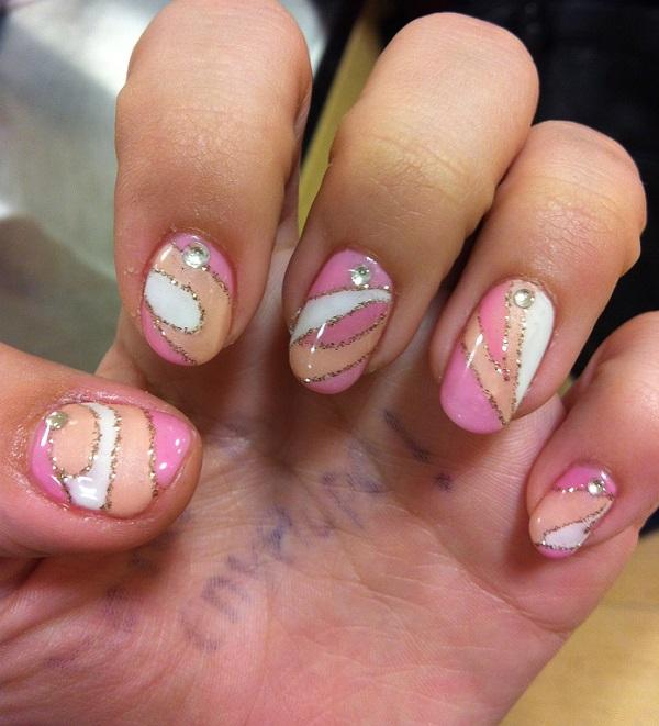 pink  nail art 19