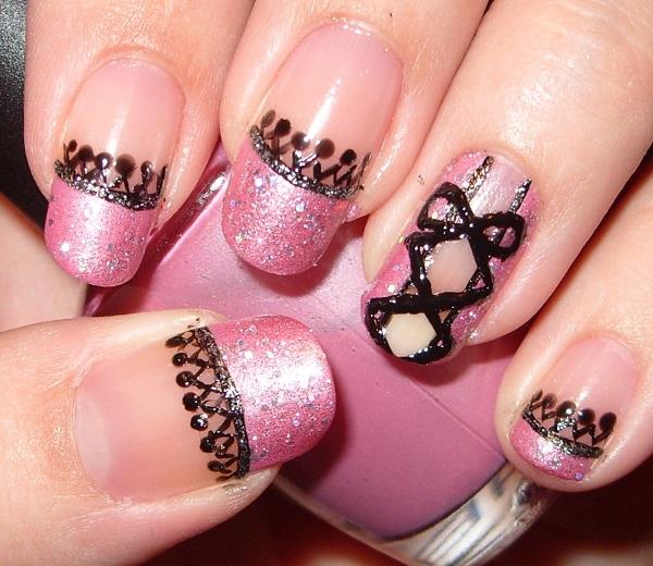 pink  nail art 22
