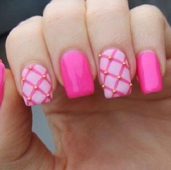 pink  nail art 24