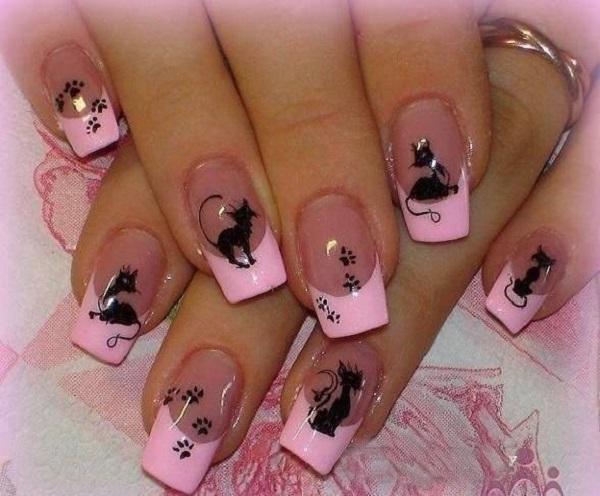 pink  nail art 34